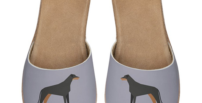 Leather Sliders - Dazzling Dobermans