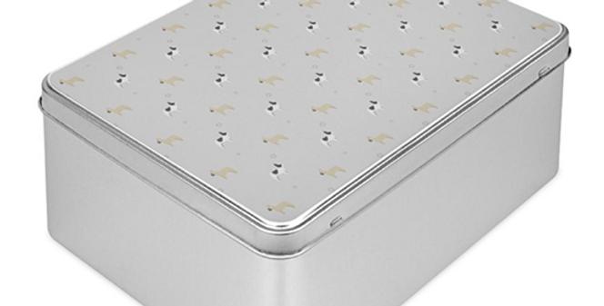 Grey Storage Tin - Fancy Frenchies
