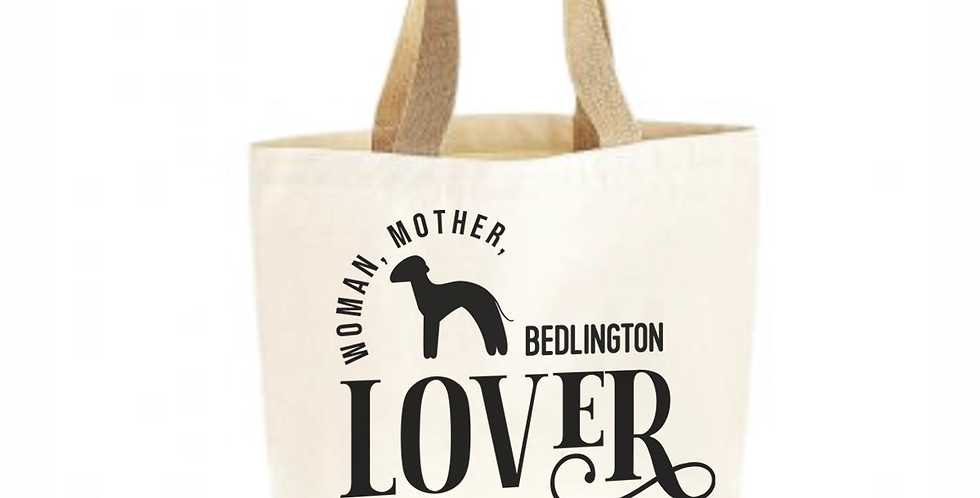 Classic Jute & Canvas Bedlington Shopper