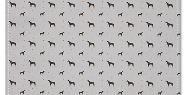 Grey Multi Pocket Squares (2) - Dazzling Dobermans