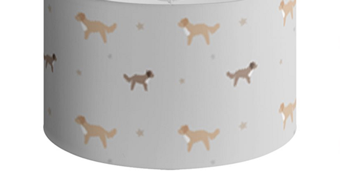 Large Round Ceiling Shade - Cute Cavapoos