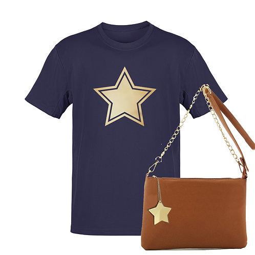 NAVY STAR - Tee & Bag Bundle