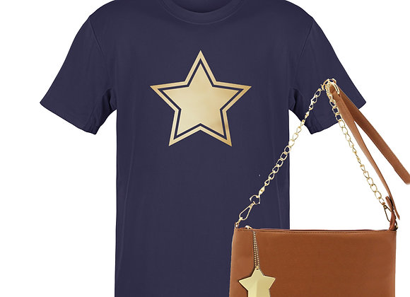 NAVY STAR - Tee & Bag Bundle