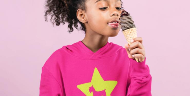 KIDS Bright Star Pink Hoodie - ANY BREED