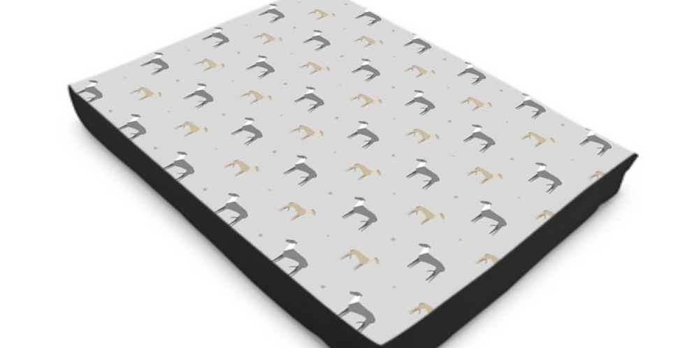 Luxury Dog Bed (L or XL) - Graceful Greyhounds