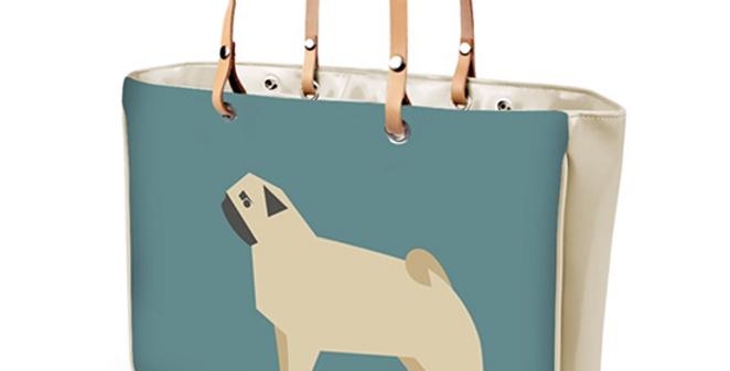 Large Tote Bag - Perfectly Pug