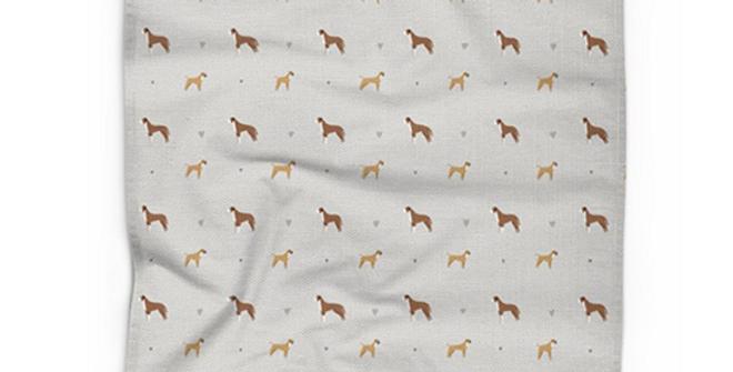 Cotton Linen Tea Towel - Bounding Boxers
