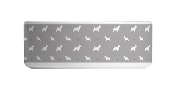 Grey Large Ceramic Dog Bowl - Wonderful Westies