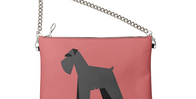 Colour Pop Leather Bag - Snazzy Schnauzers