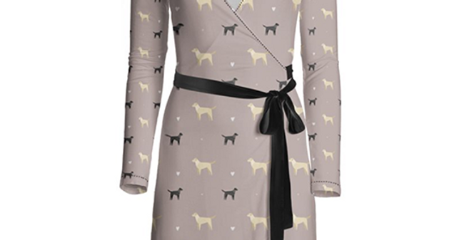 Multi Print Wrap Dress - Lucky Labs