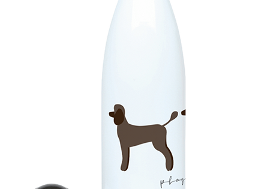 Trio Steel Water Bottle - Playful Poodles
