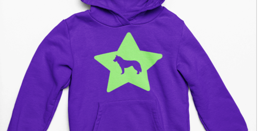 KIDS Bright Star Purple Hoodie - ANY BREED