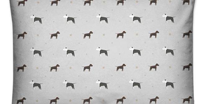 Grey Large Rectangular Cushion - Sassy Staffies