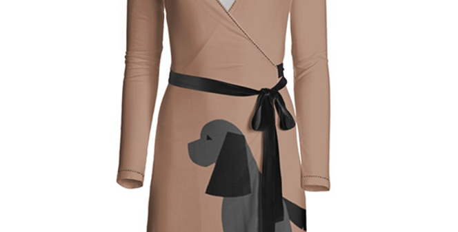 Big Dog Wrap Dress - Cheeky Cockers