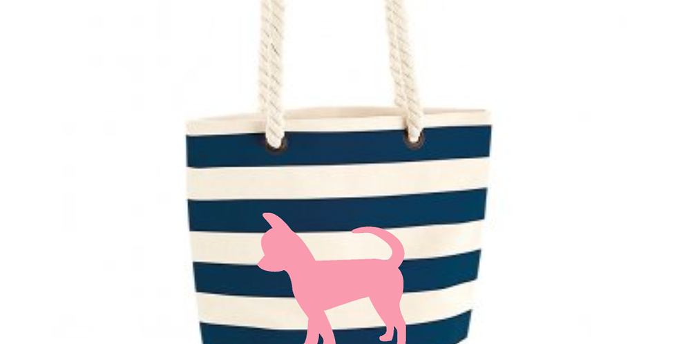 Boardwalk Shoulder Bag - Navy Stripe