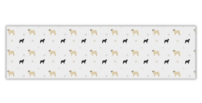 Grey Twill Table Runner - Perfectly Pug