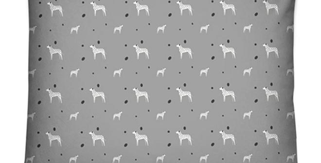 Grey Dog Bed Cushion - Dotty Dallies