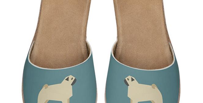 Leather Sliders - Perfectly Pug