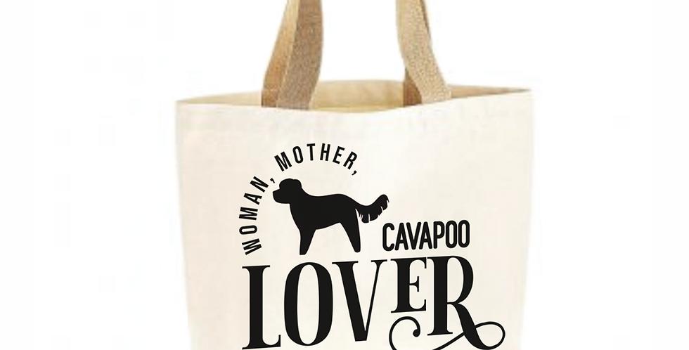 Classic Jute & Canvas Cavapoo Shopper