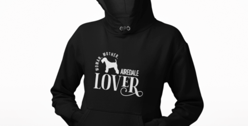 Woman, Mother Airedale Lover - Hoodie
