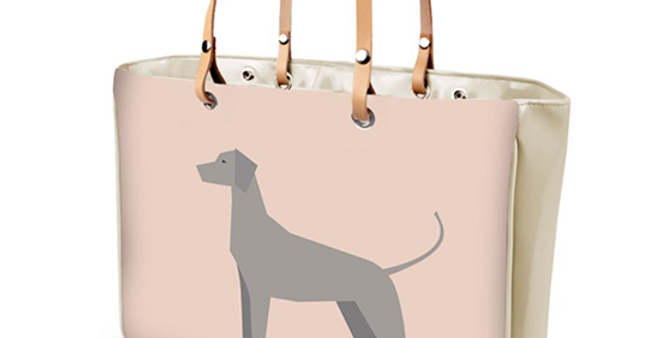 Large Tote Bag - Valiant Weimaraners