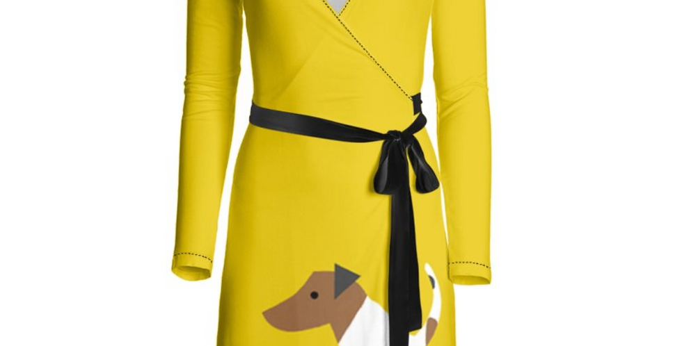 Big Dog Wrap Dress - Jazzy Jacks