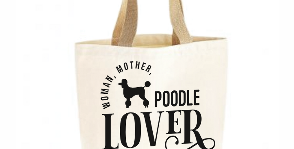 Classic Jute & Canvas Poodle Shopper