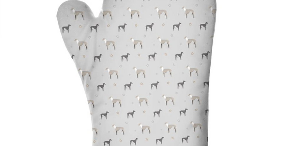 Grey Ultra Suede Oven Glove - Whimsical Whippets
