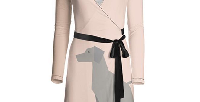 Big Dog Wrap Dress - Valiant Weimaraners
