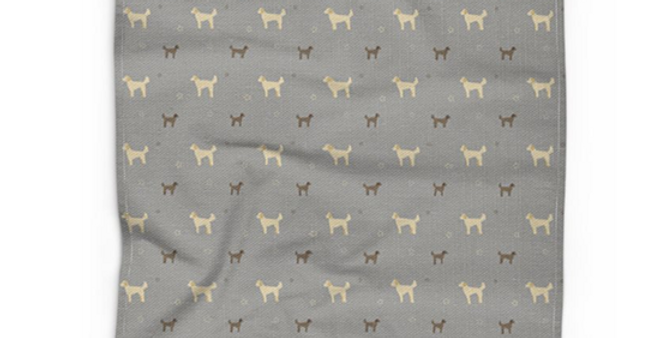 Cotton Linen Tea Towel - Dandy Doodles