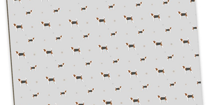 Grey Large Placemat Set (4) - Busy Beagles