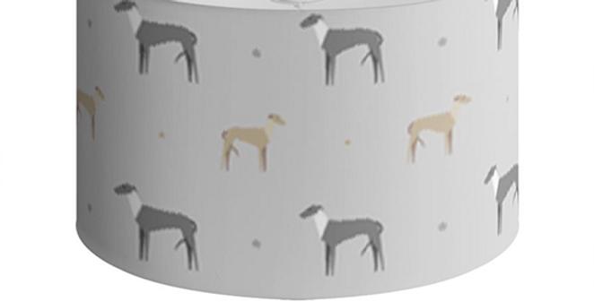 Large Round Ceiling Shade - Graceful Greyhounds