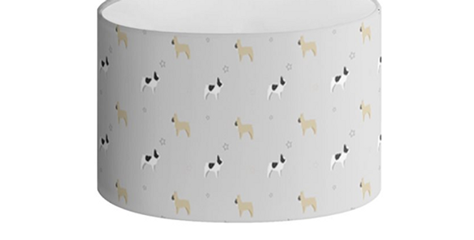 Oval Lampshade - Fancy Frenchies
