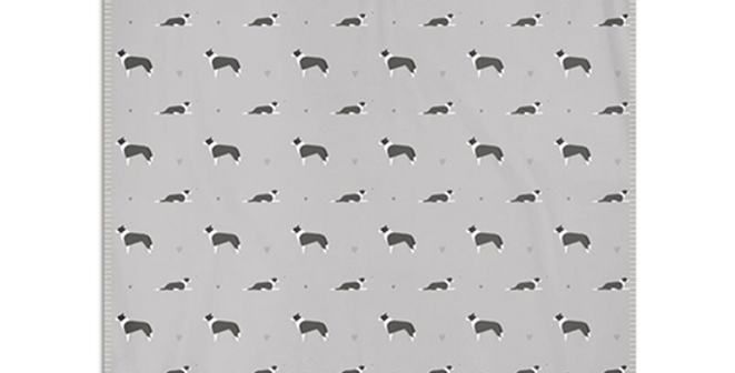 Grey Snuggly Fleece Blanket - Cool Collies