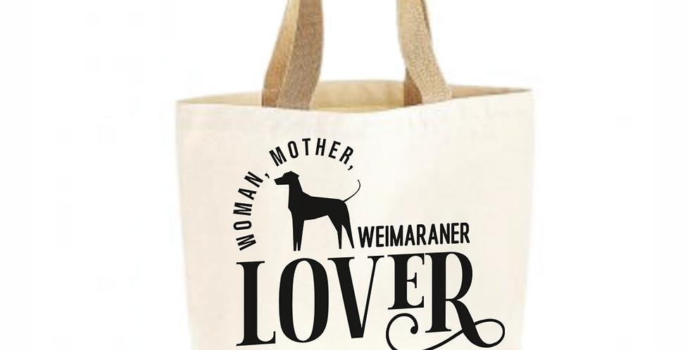 Classic Jute & Canvas Weimaraner Shopper