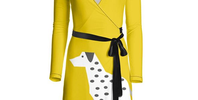 Big Dog Wrap Dress - Dotty Dallies