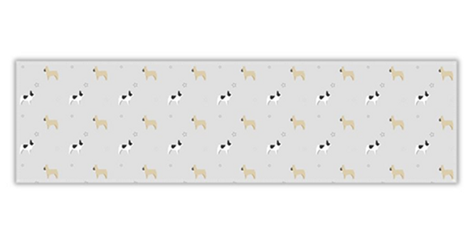 Grey Twill Table Runner - Fancy Frenchies