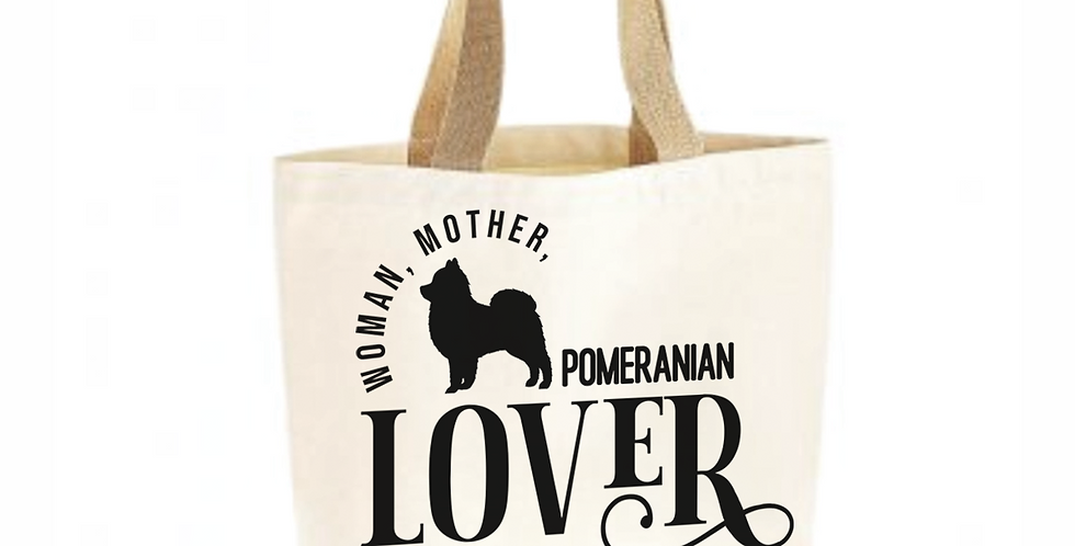 Classic Jute & Canvas Pomeranian Shopper