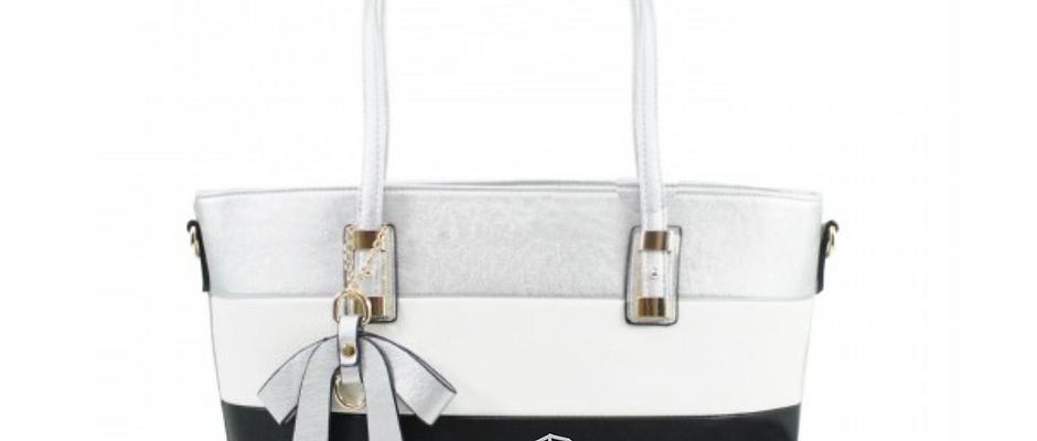 WW Geo Dog Stripe Shoulder Bag - Silver