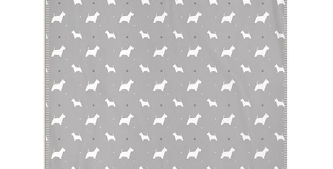 Grey Snuggly Fleece Blanket - Wonderful Westies