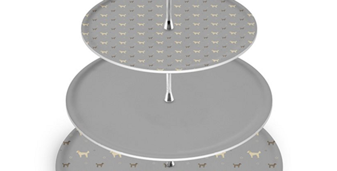 Grey Cake Stand - Dandy Doodles