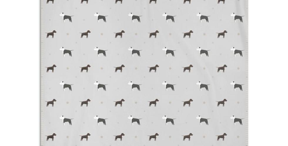 Grey Snuggly Fleece Blanket - Sassy Staffies
