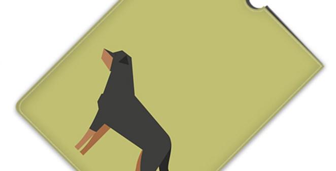 Leather iPad Case (Mini) - Rock n Roll Rotties