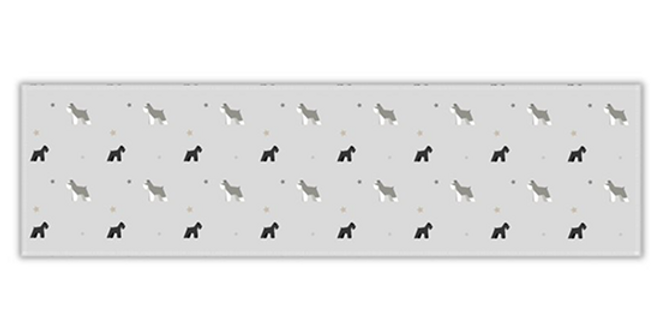 Grey Twill Table Runner - Snazzy Schnauzers