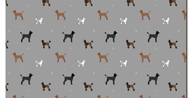 Large Placemat Set (4) - Poodles