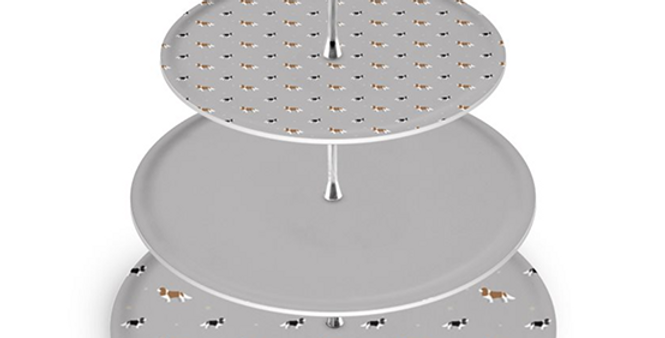 Grey Cake Stand - Keen King Charles
