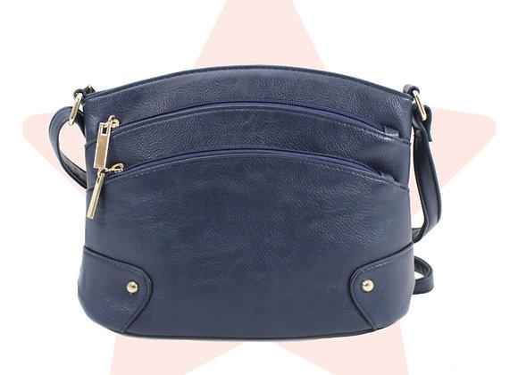 Cute Navy Triple-Zip Bag