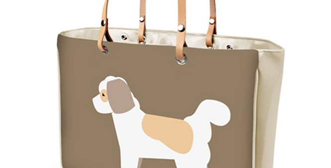 Large Tote Bag - Cuddly Cavachons