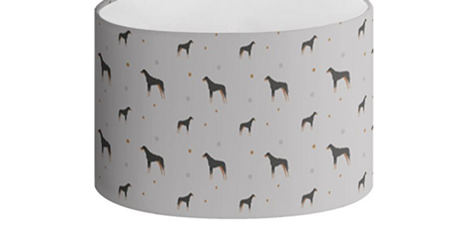 Oval Lampshade - Dazzling Dobermans