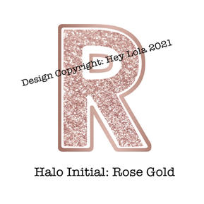 Halo Initial - Rose Gold
